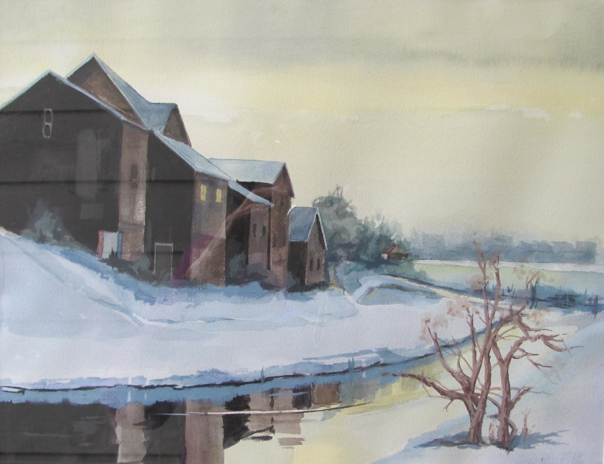 Cold Reflections Watercolor