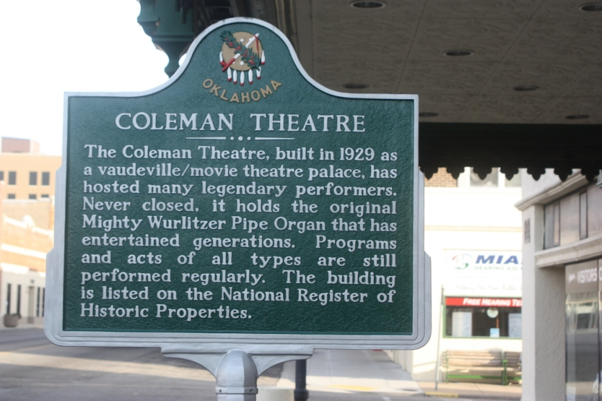 Coleman Theatre Historical Marker